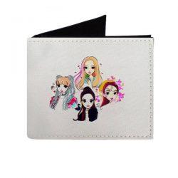 کیف پول دخترانه طرح black pink کد kp103