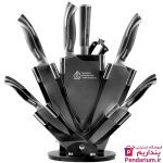 سرویس چاقو آشپزحانه 9 پارچه آکیلیس مدل ACK-KS-600